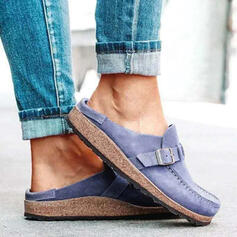 Women's Suede Flat Heel Flats Slide & Mules Mules With Buckle shoes