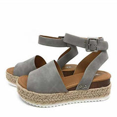 Women's Leatherette Flat Heel Sandals Platform With Others shoes