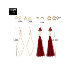Fashionable Alloy Women's Earrings (Set of 6 pairs)
