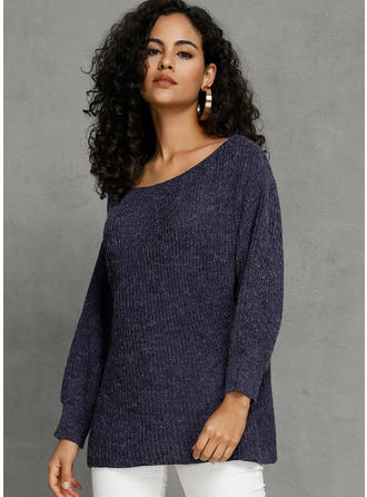 Solid One-Shoulder Sweaterkjole