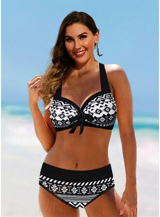 High Waist Halter Vintage Plus Size Bikinis Swimsuits