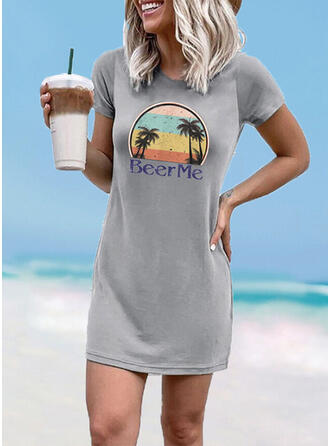 Floral Round Neck High Neck Sexy Fresh Cover-ups Swimsuits