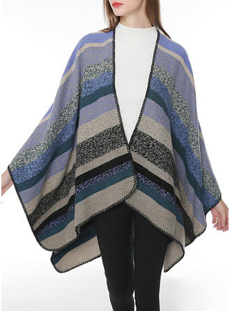 Striped simple Scarf/Poncho