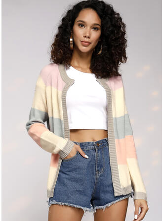 Color Block Chunky knit Cardigan