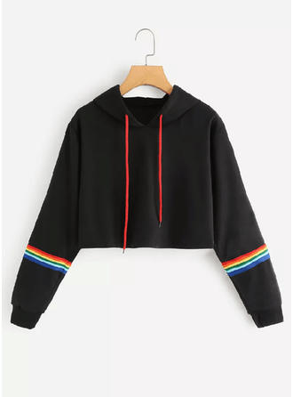polyester Rand Hoodie