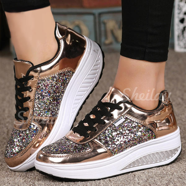 Women's PU Casual Outdoor Athletic With Lace-up shoes