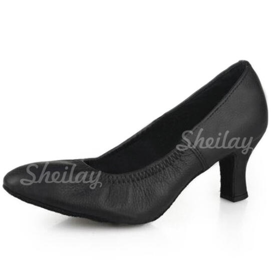 Women's Ballroom Heels Pumps Real Leather Ballroom