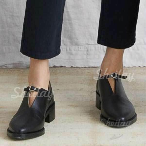 Women's PU Flat Heel Flats With Elastic Band Solid Color shoes