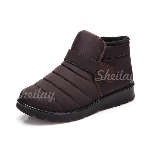 Women's Men's Fabric Flat Heel Flats Closed Toe Boots shoes